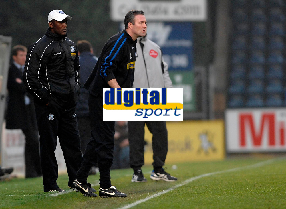 Photo: Richard Lane.<br />Wycombe Wanderers v Stockport County. Coca Cola League 2. 23/12/2006. <br />Wycombe's manager, Gary Lambert.