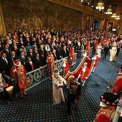 Her Majesty The Queen with the Duke of Edinburgh in the Royal Gallery of the House of Lords at the State Opening of Parliament.3/12/08