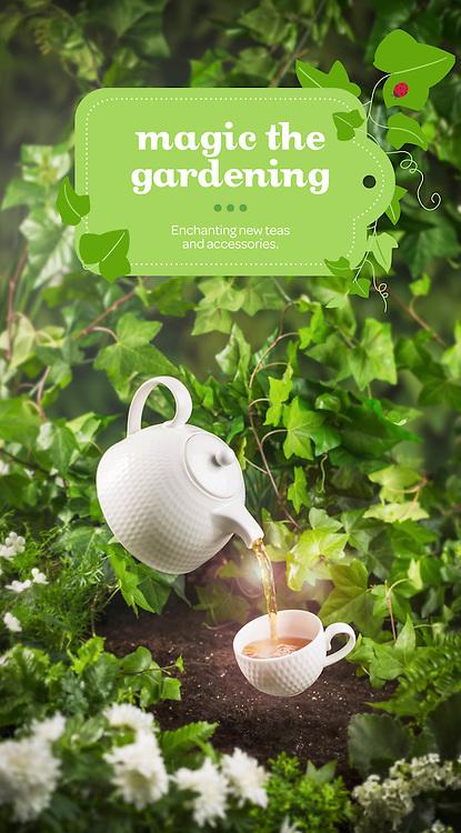 Advertising Photography. David's Tea in store displays- Spring impact walls. 2015.