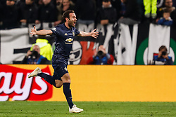 November 8, 2018 - Turin, Italy - Juan Mata of Manchester United celebrates his goal during the Group H match of the UEFA Champions League between Juventus FC and Manchester United FC on November 7, 2018 at Juventus Stadium in Turin, Italy. (Credit Image: © Mike Kireev/NurPhoto via ZUMA Press)