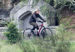 EXCLUSIVE Sophie Wessex is seen on a mountain bike ride through the Balmoral Estate, 28 August 2018.<br /><br />9 September 2018.<br /><br />Please byline: ***NO BYLINE***