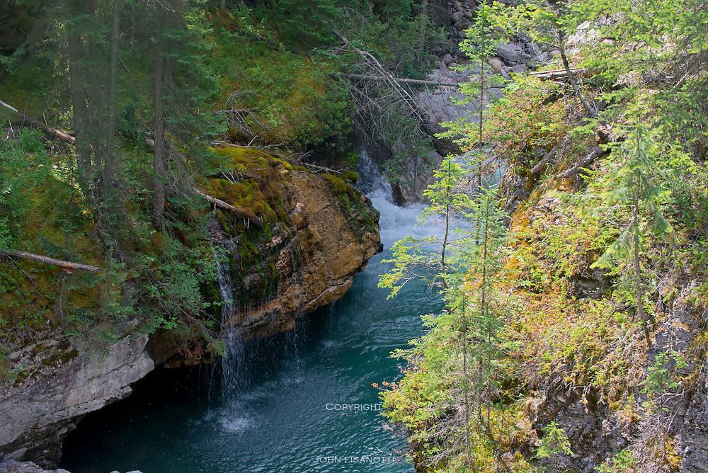 Maligne Canyon Waterfalls in Jasper National Park