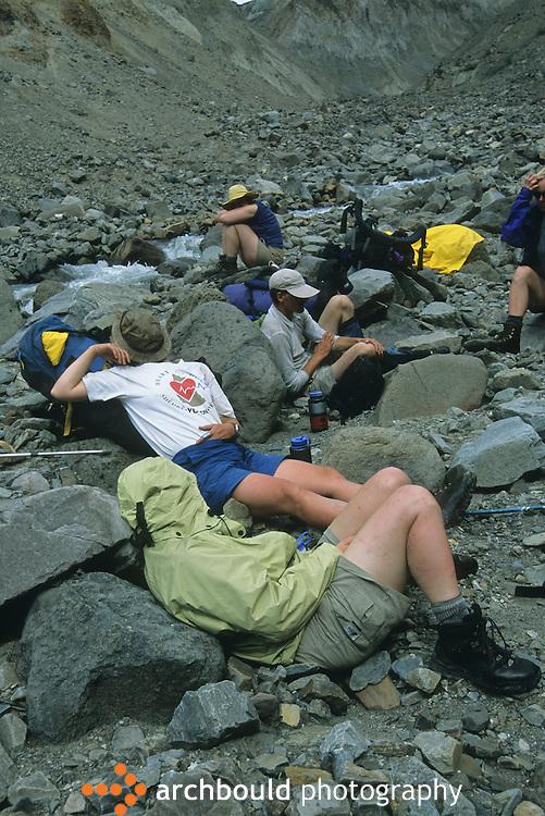 Taking a rest on a hike in Kluane