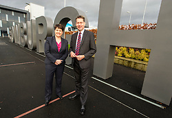 Pictured: Ruth Davidson and shadow finance secretary Murdo Fraser <br /> <br /> Scottish Conservatives leader Ruth Davidson and shadow finance secretary Murdo Fraser headed to Edinburgh Airport to meet Ahmet Serhat Sari, Turkish Airlines General manager for Scotland, 4 years after the airline opened up the route from the capital to Ankera. Ms Davison was keen to discuss the expansion of the Scottish economy.<br /> <br /> Ger Harley | EEm 9 December 2016