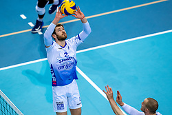 Luke Herr of Lycurgus in action during the league match between Draisma Dynamo vs. Amysoft Lycurgus on March 13, 2021 in Apeldoorn.