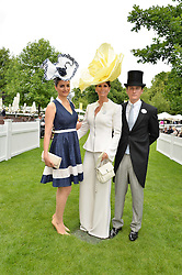 Left to right, NICHOLA KRISTENSEN, ISABELL KRISTENSEN and MARTIN KRISTENSEN at day one of the Royal Ascot 2016 Racing Festival at Ascot Racecourse, Berkshire on 14th June 2016.