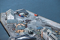 Skansekaia i Ålesund bygges om.<br /> Foto: Svein Ove Ekornesvåg