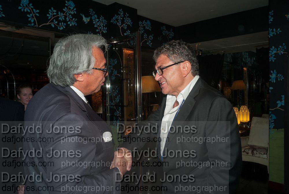 SIR DAVID TANG; VINCENT TCHENGUIZ, Dinner in aid of the China Tiger Revival hosted by Sir David Tang and Stephen Fry  at China Tang, Park Lane, London. 1 October 2013. ,