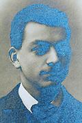 silver oxidizing vintage portrait image