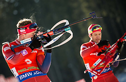 Tarjei Boe (NOR) competes during Men 12,5 km Pursuit at day 3 of IBU Biathlon World Cup 2015/16 Pokljuka, on December 19, 2015 in Rudno polje, Pokljuka, Slovenia. Photo by Vid Ponikvar / Sportida