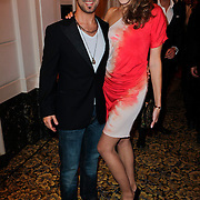 NLD/Amsterdam/20111124 - Beau Monde Awards 2011, Christoph haddad en partner Sanne de Regt