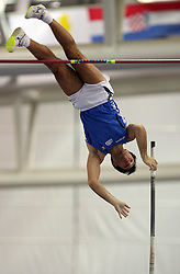 Giorgio Piantella of Italy in the Pole Vault men Qualification at the 2nd day of  European Athletics Indoor Championships Torino 2009 (6th - 8th March), at Oval Lingotto Stadium,  Torino, Italy, on March 6, 2009. (Photo by Vid Ponikvar / Sportida)