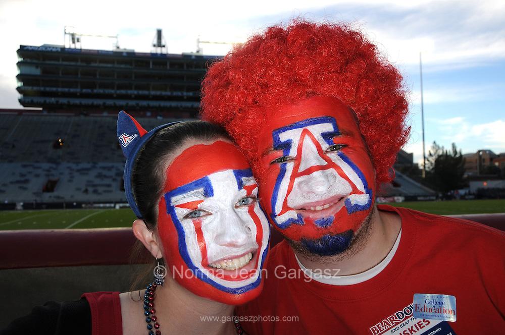 The homecoming football game draws a crowd to pre-game activities at the University of Arizona, Tucson, Arizona, USA.