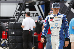 May 26, 2018 - Concord, North Carolina, United States of America - Kyle Larson (42) hangs out in the garage during practice for the Coca-Cola 600 at Charlotte Motor Speedway in Concord, North Carolina. (Credit Image: © Chris Owens Asp Inc/ASP via ZUMA Wire)