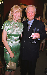 MISS KIRSTEN HUGHES and SIR BENJAMIN SLADE at a party in London on 1st June 1999.MSS 8