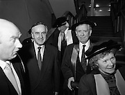 30/11/1992<br /> 11/30/1992<br /> 30 November 1992<br /> Conferring of Honorary Degrees (LL.D.) by the National Council for Educational Awards in Dublin Castle Conference Centre, Dublin. Picture shows Taoiseach Albert Reynolds, T.D. centre with  Mr. Padraig Faulkner.