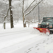 Snowplow in Central Park, NYC