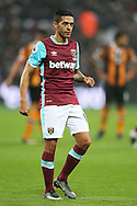 Manuel Lanzini of West Ham United looking on. Premier league match, West Ham Utd v Hull city at the London Stadium, Queen Elizabeth Olympic Park in London on Saturday 17th December 2016.<br /> pic by John Patrick Fletcher, Andrew Orchard sports photography.