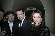 Roland Mouret and Nathalie Massanet,  Charles Finch and Chanel 7th Anniversary Pre-Bafta party to celebratew A Great Year of Film and Fashiont at Annabel's. Berkeley Sq. London W1. 10 February 2007. -DO NOT ARCHIVE-© Copyright Photograph by Dafydd Jones. 248 Clapham Rd. London SW9 0PZ. Tel 0207 820 0771. www.dafjones.com.
