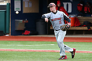 21 February 2015: Hartford's David MacKinnon. The Iona College Gaels played the University of Hartford Hawks in an NCAA Division I Men's baseball game at Jack Coombs Field in Durham, North Carolina as part of the Duke Baseball Classic. Hartford won the game 12-1.