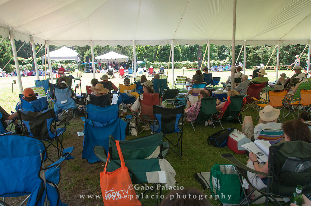 Audience at the American Roots Music Festival at Caramoor in Katonah New York.photo by Gabe Palacio