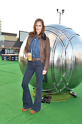 CHARLOTTE DE CARLE at the launch of the Orangina Boulers Rooftop Petanque held on the top floor of the Stratford Multistorey Car Park, Great Eastern Way, London E15 on 26th August 2015.