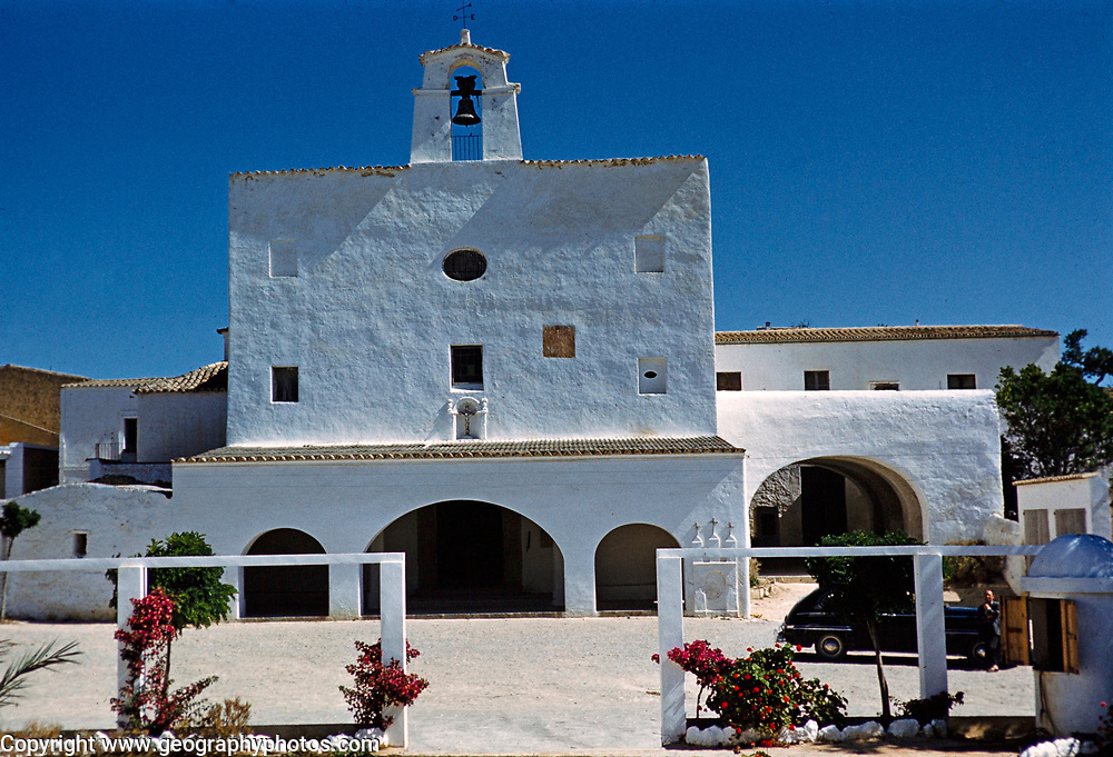 Sant Josep de sa Talaia parish church, island of Ibiza, Balearic Islands, Spain, 1950s