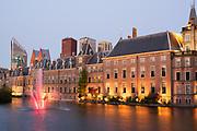 The Dutch parliament buildings Binnenhof (Innercourt) in The Hague, Netherlands