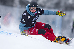 Michal Nowaczyk (POL) during Final Run at Parallel Giant Slalom at FIS Snowboard World Cup Rogla 2019, on January 19, 2019 at Course Jasa, Rogla, Slovenia. Photo byJurij Vodusek / Sportida