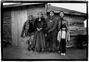 FIVE GENERATIONS of the Tso-Wilson family faced with relocation at Big Mountain, on the Navajo Reservation in Arizona, 1986