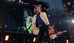Mick Jagger on stage at the Rolling Stones concert at Don Valley Stadium, in Sheffield, on their Voodoo Lounge tour.  *05/12/01  Mick Jagger on stage at a Rolling Stones concert at the Don Valley Stadium, Sheffield.  The haunting guitar line from the atmospheric opening bars of Gimme Shelter has helped the classic song to the title of the Rolling Stones' greatest ever track, according to fellow musicians. The song, from the 1969 album Let It Bleed, tops the list in a survey of 100 stars such as Bob Geldof, Marc Almond and Mick Hucknall for Uncut  magazine. But the survey shows voters were unimpressed by the wrinkly rockers' output of the past three decades - the most recent tracks in the top 20 were a pair dating back to 1972. The top ten were:    1. Gimme Shelter, 2. Street Fighting Man, 3. Sympathy For The Devil, 4. (I Can't Get No) Satisfaction, 5. Tumbling Dice, 6. Paint It Black, 7. 19th Nervous Breakdown, 8. Jumpin' Jack Flash, 9. Play With Fire, 10. We Love You.
