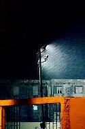 Driving rain in Gibara, Holguin, Cuba.