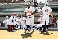 WINSTON-SALEM, NC - JUNE 02: Maryland's Jamal Wade. The West Virginia University Mountaineers played the University of Maryland Terrapins on June 2, 2017, at David F. Couch Ballpark in Winston-Salem, NC in NCAA Division I College Baseball Tournament Winston-Salem Regional Game 1. West Virginia won the game 9-1.