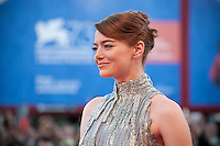 Emma Stone at the opening ceremony and premiere of the film La La Land at the 73rd Venice Film Festival, Sala Grande on Wednesday August 31st, 2016, Venice Lido, Italy.