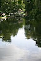 Pond at St Stephens Green Park Dublin Ireland