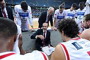 DESCRIZIONE : Pesaro Lega A 2014-15 Consultinvest Pesaro ENEL Brindisi<br /> GIOCATORE : Riccardo Paolini<br /> CATEGORIA : coach time out<br /> SQUADRA : Consultinvest Pesaro ENEL Brindisi<br /> EVENTO : Campionato Lega A 2014-2015 <br /> GARA : Consultinvest Pesaro ENEL Brindisi<br /> DATA : 25/01/2015 <br /> SPORT : Pallacanestro <br /> AUTORE : Agenzia Ciamillo-Castoria/C.De Massis<br /> Galleria : Lega Basket A 2014-2015<br /> Fotonotizia : Pesaro Lega A 2014-15 Consultinvest Pesaro ENEL Brindisi