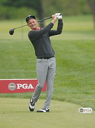 May 24, 2019 - Benton Harbor, NY, U.S. - ROCHESTER, NY - MAY 24: Jesper Parnevick prepares to hits his tee shot on the 18th hole during the second round of the KitchenAid Senior PGA Championship at Oak Hill Country Club on May 24, 2019 in Rochester, New York. (Photo by Jerome Davis/Icon Sportswire) (Credit Image: © Jerome Davis/Icon SMI via ZUMA Press)
