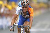 CYCLING - TOUR DE FRANCE 2004 - STAGE 14 - CARCASSONNE > NIMES - 18/07/2004 - PHOTO : NICO VEREECKEN / DIGITALSPORT<br /> MARC LOTZ (NED) / RABOBANK