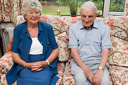 Elderly couple relaxing at home,