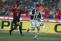 Milano 16-01-2005<br /> Campionato  Serie A Tim 2004-2005<br /> Milan Udinese<br /> nella  foto Alessandro Nesta Milan (L), Iaquinta Vincenza Udinese (R)<br /> Foto Snapshot / Graffiti