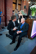 YVES BEHAR; SIR TERENCE CONRAN, Conde Nast Traveller Innovation and Design Awards. St. Pancras Renaissance Marriot Hotel. London. 10 May 2011. <br /> <br />  , -DO NOT ARCHIVE-© Copyright Photograph by Dafydd Jones. 248 Clapham Rd. London SW9 0PZ. Tel 0207 820 0771. www.dafjones.com.