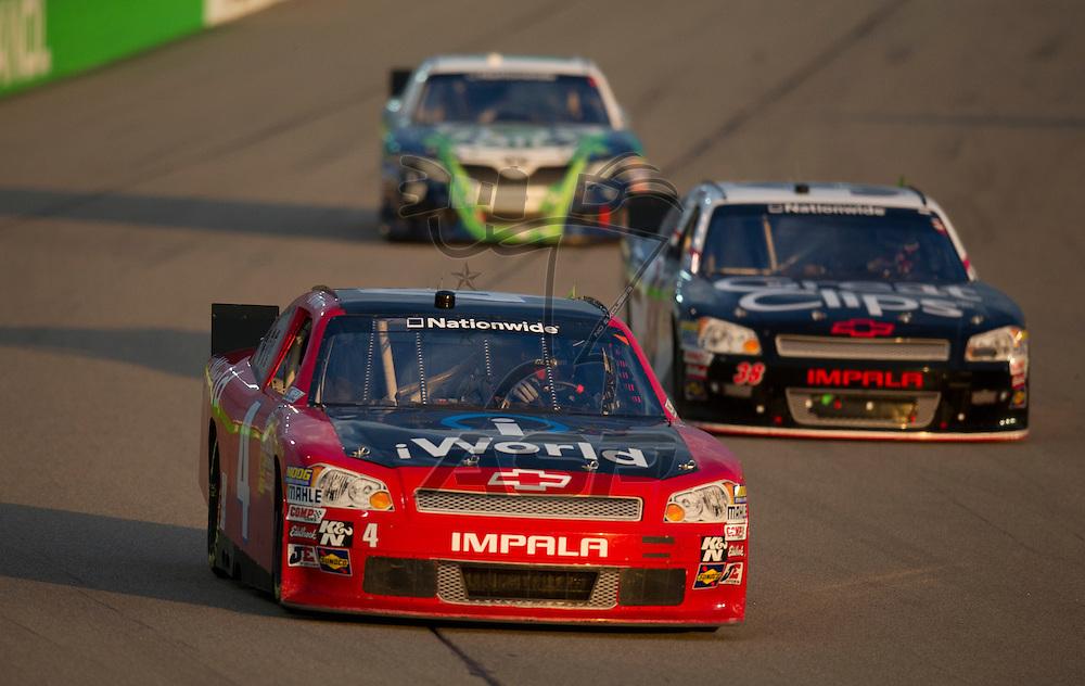 NEWTON, IA - July 04, 2012: Daryl Harr (4) during the U.S. Cellular 250 race at Iowa Speedway in Newton, IA.