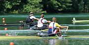 Lucerne, Switzerland.  Men's finalSingle Sculls GBR  Middle, M1X Alan CAMPBELL Silver Medalist, Men's Single Sculls. 2010 FISA World Cup. Lake Rotsee, Lucerne.  13:41:45   Sunday  11/07/2010.  [Mandatory Credit Peter Spurrier/ Intersport Images]