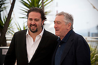 Director Jonathan Jakubowicz and Actor Robert De Niro at the Hands Of Stone film photo call at the 69th Cannes Film Festival Monday 16th May 2016, Cannes, France. Photography: Doreen Kennedy
