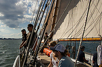 Tall Ships Boston at Fan Pier Marina and sailing aboard the Schooner Alert.  ©2017 Karen Bobotas Photographer