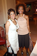 24 June 2010- Miami Beach, Florida- l to r: Dolly Turner and Andrea Wade, Creative Artist Agency at the The 2010 American Black Film Festival Founder's Brunch held at Emeril's on June 24, 2010. Photo Credit: Terrence Jennings/Sipa