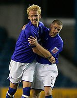 Photo: Tom Dulat/Sportsbeat Images.<br /> <br /> Millwall v Swansea City. Coca Cola League 1. 06/11/2007.<br /> <br /> Millwall's Zak Whitbread(L) celebrates his equalizer together with Alan Dunne(R). 1-1.