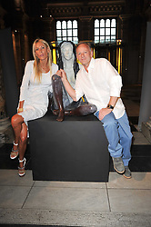 JENNIFER WADE and artist JONATHAN WYLDER at a private view of a new collection of bronzes and original paintings by artist Jonathan Wylder and his muse Jennifer Wade held at the V&A Museum, London on 27th April 2011.