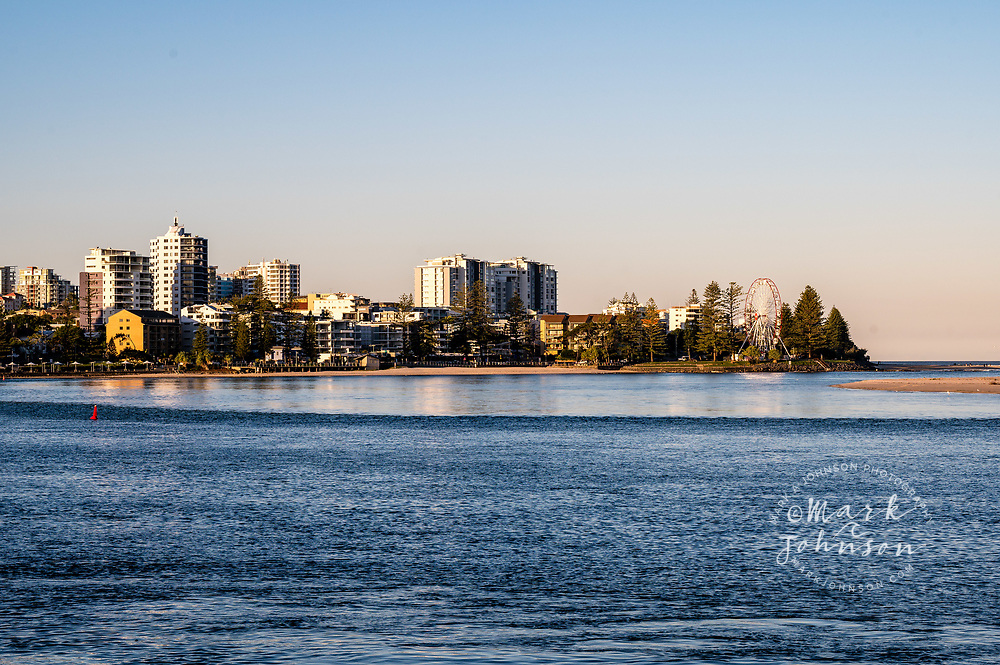 The city of Caloundra sits on the banks of the Pumicestone Passage,  Sunshine Coast, Queensland, Australia