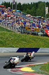 01.07.2012, Red Bull Ring, Spielberg, AUT, IDM Red Bull Ring, Renntag, im Bild Michael Ranseder, (AUT, Superbike, #2, 1. Platz), Erwan Nigon, (FRA, Superbike, #7, 2. Platz) // during the IDM race day on the Red Bull Circuit in Spielberg, 2012/07/01, EXPA Pictures © 2012, PhotoCredit: EXPA/ S. Zangrando